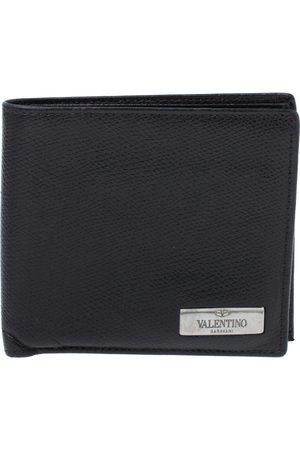 VALENTINO Black Leather Bifold Wallet