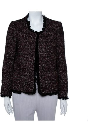 Zadig & Voltaire Zadig & Voltaire Red & Black Tweed Fringed Volia Jacket S