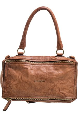 Givenchy Brown Leather Large Pandora Shoulder Bag