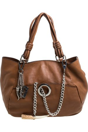 Gianfranco Ferré Brown Leather Shoulder Bag