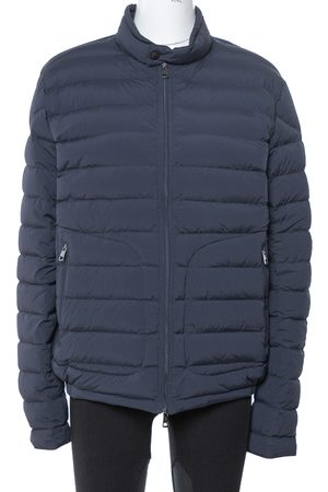 Moncler Navy Blue Down Quilted Zip Up Acorus Jacket xl