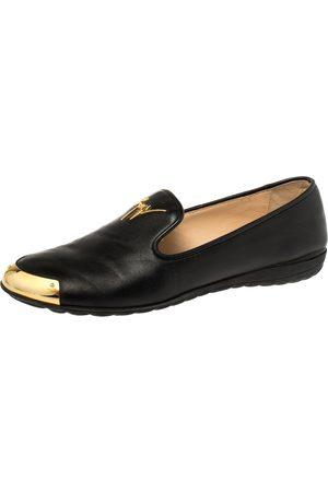 Giuseppe Zanotti Black Leather Dallia Loafers Size 38