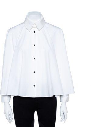 Kenzo White Cotton Poplin Trapeze Blouse M