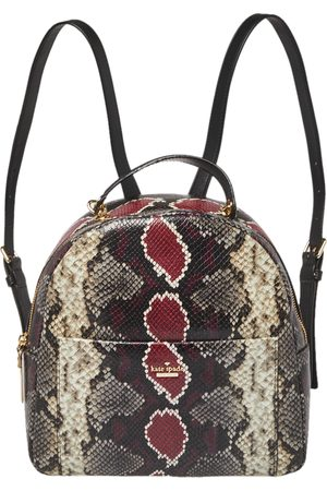 Kate Spade Multicolor Python Embossed Leather Reese Park Backpack
