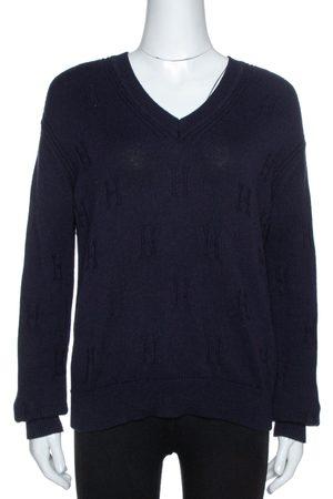 Hermès Hermès Dark Blue Ribbed Wool Knit Voyage Sweater S