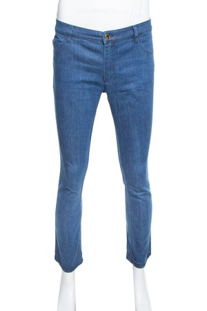 LOUIS VUITTON Blue Denim Straight Fit Jeans L