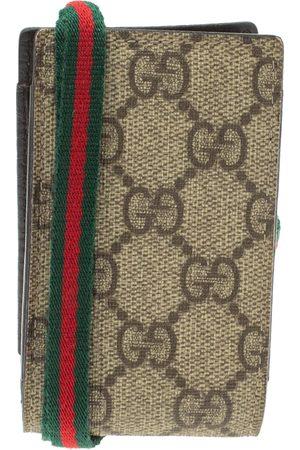 Gucci Beige GG Supreme Canvas Shelly Strap Phone Case