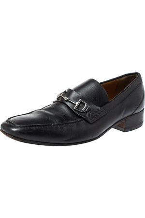 Gucci Black Horsebit Leather Loafers Size 39.5