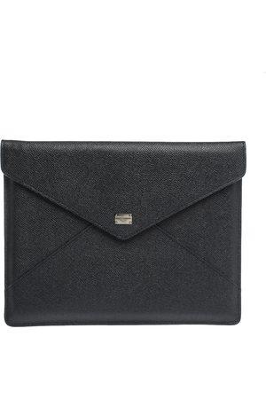Dolce & Gabbana Black Leather iPad Envelope Case