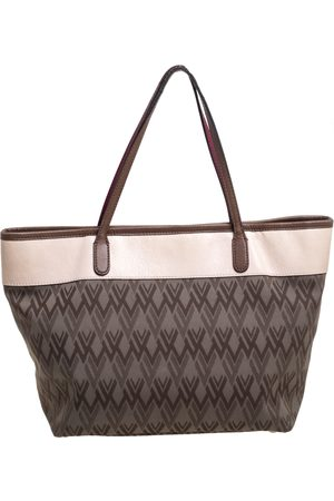 VALENTINO Multicolor Printed Canvas and Leather Tote