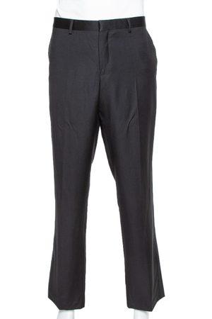 Emporio Armani Black Wool Tailored Trousers 4XL