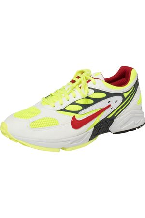 Nike Air White/Neon Green Leather And Mesh Ghost Racer Sneakers Size 42
