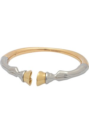 Burberry Three Tone Hoof Open Cuff Bracelet L