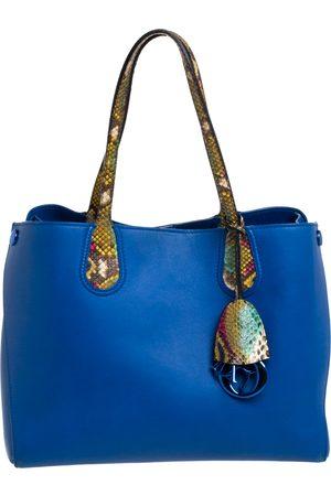 Dior Multicolor Leather and Python Small Addict Shopper Tote