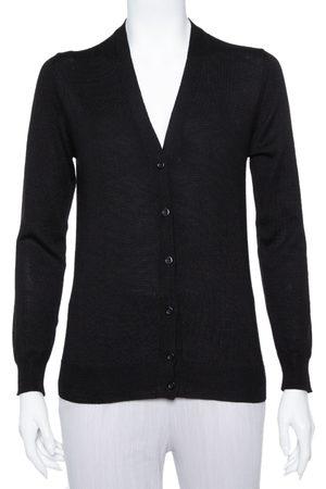 Prada Black Wool Button Front Cardigan XS