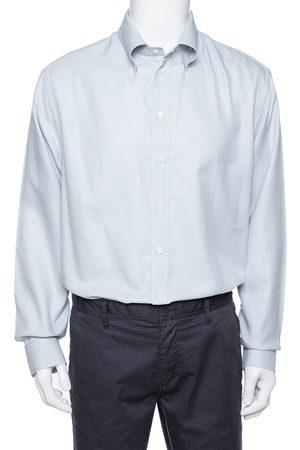 Emporio Armani Pale Grey Cotton Long Sleeve Shirt 4XL