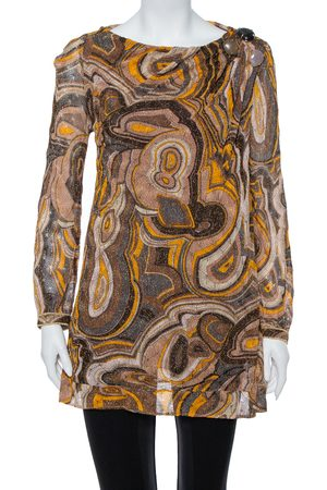 Missoni Multicolor Lurex Knit Bead Embellished Tunic M