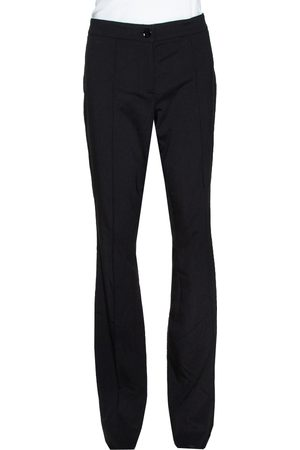 Burberry Black Stretch Wool Flared Trousers S