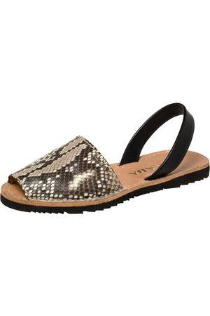 Prada Grey Python and Leather Flat Slingback Sandals Size 39.5