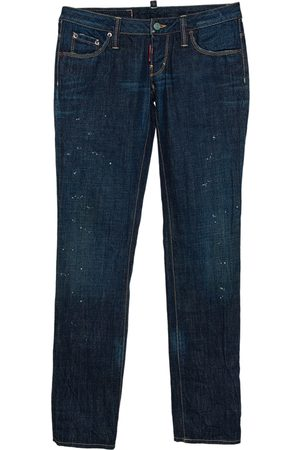 Dsquared2 Indigo Denim Paint Splatter Effect Straight Leg Jeans S