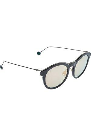 Dior Black/Green & Pink Mirrored ANS0J Blossom Round Sunglasses
