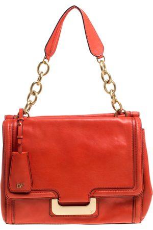 Diane von Furstenberg Coral Leather New Harper Charlotte Shoulder Bag