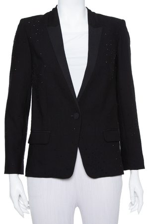 Zadig & Voltaire Black Synthetic Stone Embellished Deluxe Jacket S