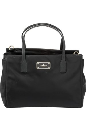 Kate Spade Black Nylon And Leather Avenue Tote