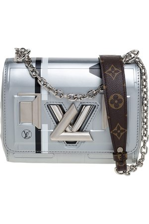 LOUIS VUITTON Grey Leather Space Argent Twist PM Bag