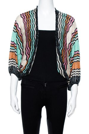 Missoni M Multicolor Lurex Knit Open Front Shrug M