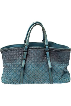 Bottega Veneta Blue Ombre Intreciatto Leather Tote
