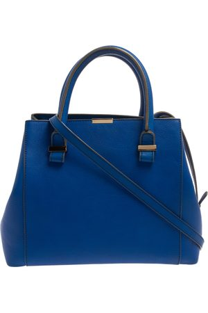 Victoria Beckham Royal Blue Leather Liberty Tote