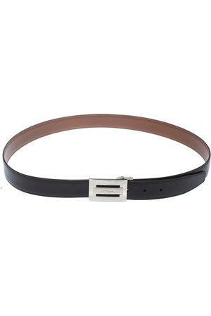 S.T. Dupont Black/Brown Leather Reversible Belt 105CM