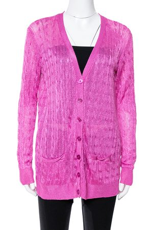 Ralph Lauren Pink Knit Button Front Cardigan M