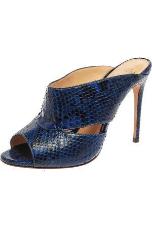 ALEXANDRE BIRMAN Blue Latoya Mules Size 36