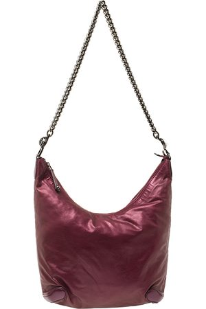 Gucci Metallic Purple Leather Galaxy Slouchy Hobo