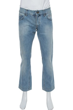 Dolce & Gabbana Blue Medium Wash Denim Straight Leg Jeans M