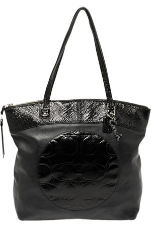 Coach Black Patent and Leather Laura Tote