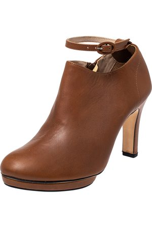 """Repetto Tan Leather """"Terry"""" Platform Ankle Booties Size 40"""