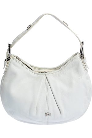 Burberry Women Purses - White Leather Small Malika Hobo