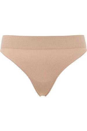 ANDREA ADAMO Women Thongs - Mid Rise Ribbed Jersey Thong