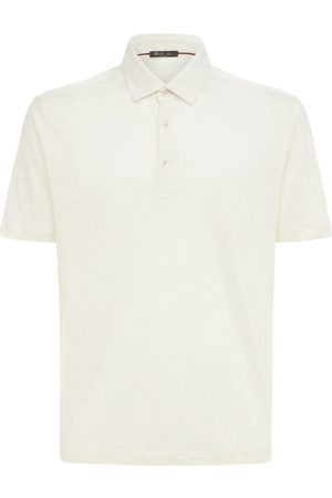 Loro Piana Men Polo Shirts - Jersey Dublon Linen Polo