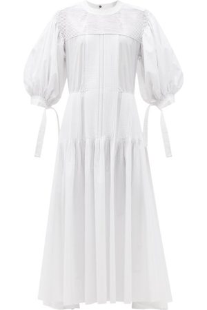 Jil Sander Women Maxi Dresses - Pintucked Cotton Maxi Dress - Womens
