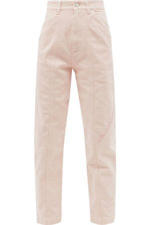 Stella McCartney Logo-embroidered High-rise Tapered-leg Jeans - Womens - Light
