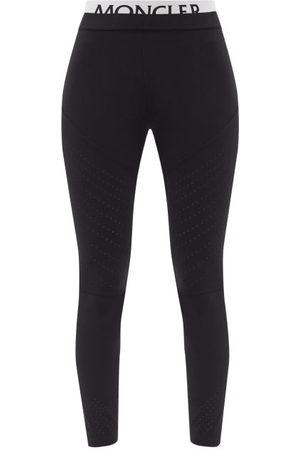 Moncler Women Leggings - Logo-waistband Jersey Leggings - Womens