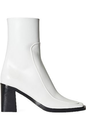The Row Patch Leather Boots in White