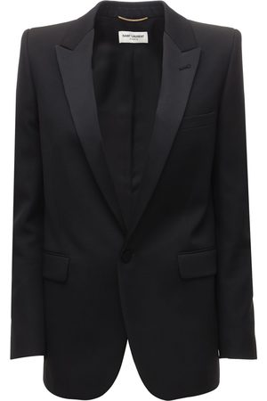 Saint Laurent Wool & Satin Gabardine Blazer