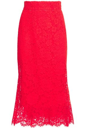 Dolce & Gabbana Lace Midi Flared Skirt
