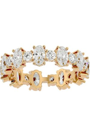 SuperJeweler Women Rings - 14K (4 g) 3 3/4 Carat Oval & Round Moissanite Eternity Ring