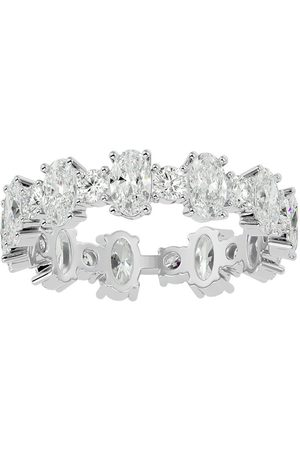 SuperJeweler Women Rings - 14K (2.90 g) 3 Carat Oval & Round Diamond Eternity Ring (